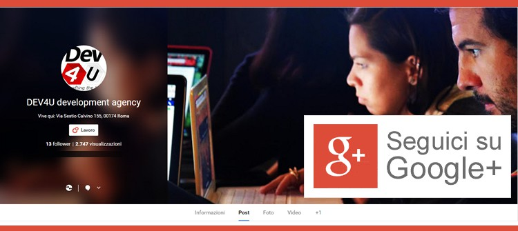 DEV4U su Google Plus