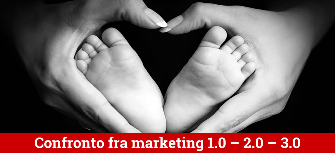 Le 7 differenze tra Marketing 1.0 - 2.0 - 3.0