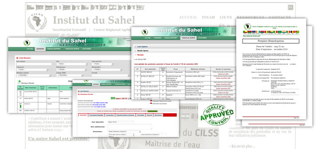 referenza di Monitoring and Evalution Software - INSTITUT SU SAHEL (pesticides)
