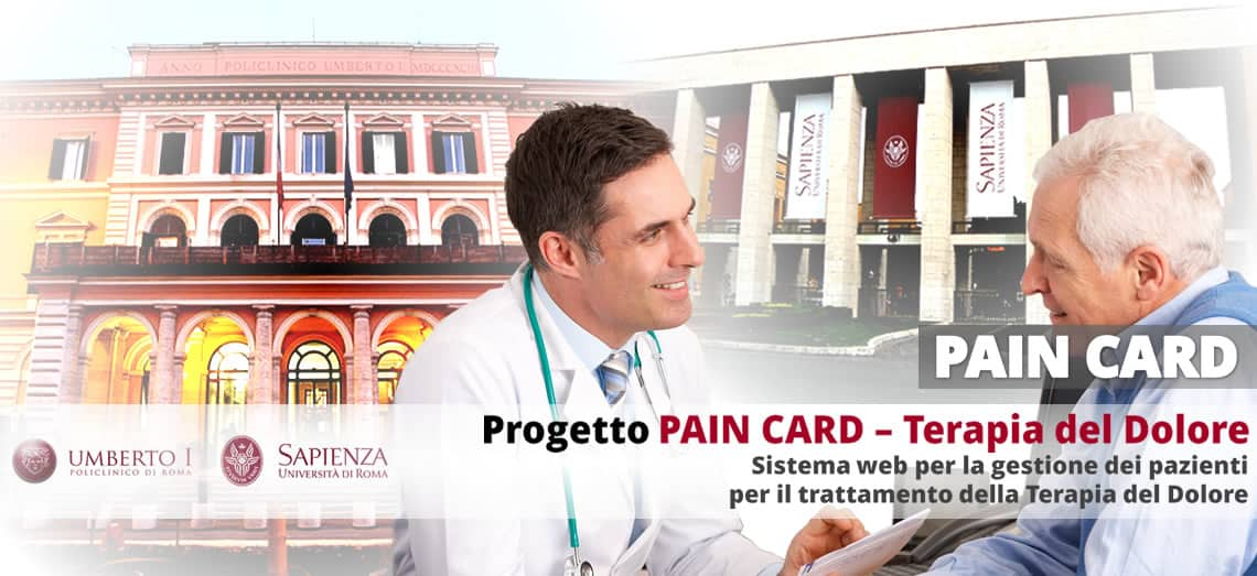 [POLICLINICO UMBERTO I°]: Progetto TERAPIA DEL DOLORE - Pain Card