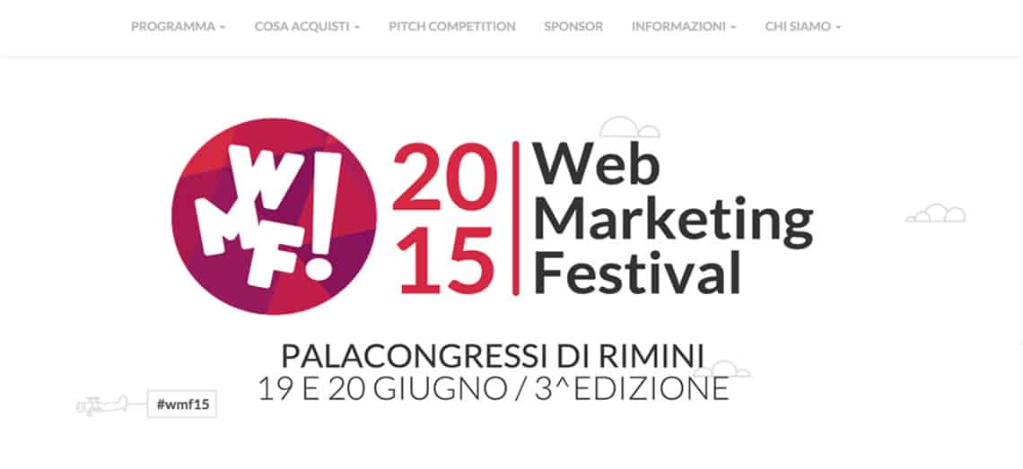 Web Marketing Festival - Rimini, 19-20 Giugno 2015